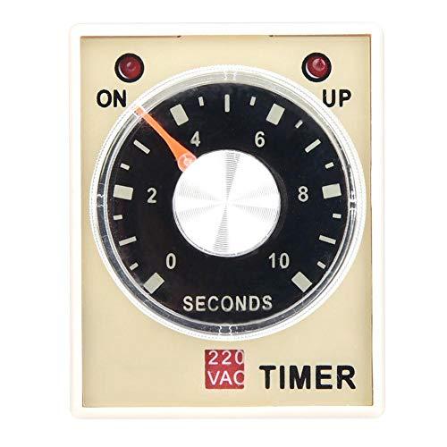AH3-3 Retardo del temporizador de retardo, CA 220 V 50/60 Hz Relé del relé de tiempo de electricidad Interruptor de control del temporizador de retardo(10S)