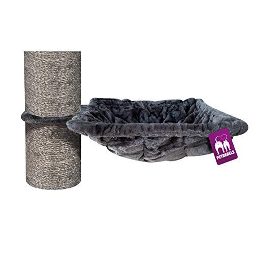 Petrebels Hueco XL para rascador de 45 cm de diámetro, cuadrado/cuadrado, peso de carga de 25 kg, para troncos de 12, 15 y 20 cm de diámetro, color negro