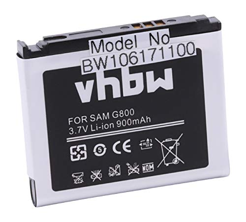 vhbw Li-Ion Akku 600mAh (3.7V) für Handy, Smartphone, Handy Samsung GT-S5233 wie AB603443CE, AB603443CU.
