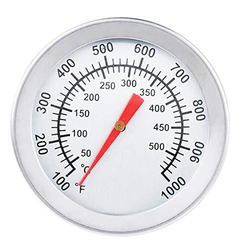 Turbobm Termómetro de Parrilla de Barbacoa, Parrilla de ahumador de Acero Inoxidable Medidor de Temperatura de Barbacoa Horno Medidor de termómetro de Barbacoa para cocinar Carne de Barbacoa