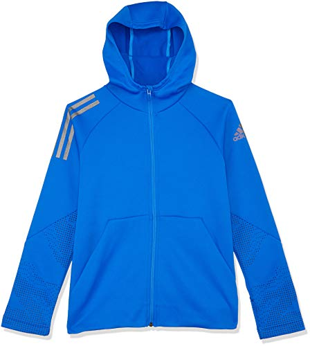 adidas Jungen Training Full Zip Hooded Kapuzen-Jacke, Blue, 164
