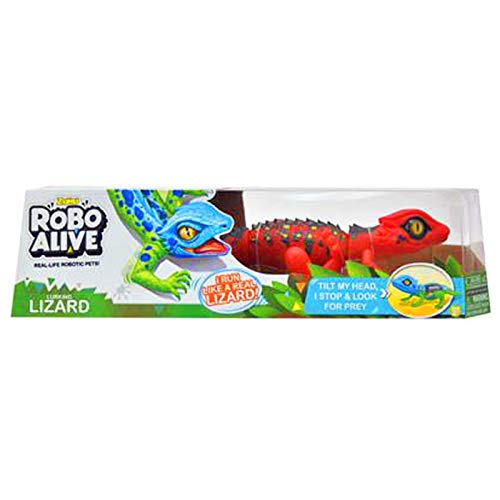 Robo Alive Lurking Lizard Battery-Powered Robotic Toy (Red + Blue) Series 2, Small