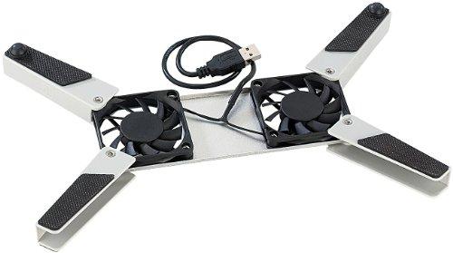PEARL USB Laptop Kühler: kompaktes Kühlerpad für Notebooks mit USB-Anschluss (USB Lüfter Laptop)