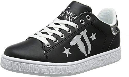 Trussardi Jeans 79A00391 Negro Blanco Mujer Zapatillas De Deporte Calzado Deportivo