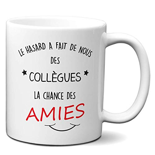 Tasse-Mug Cadeau Collègue Travail - Collègues et Amies - Anniversaire Femme Départ Job Entreprise