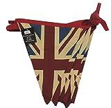 Estilo Vintage Festival banderines de la Bandera del Reino Unido de Doble Cara - 100% banderines de algodón, 5 Metros