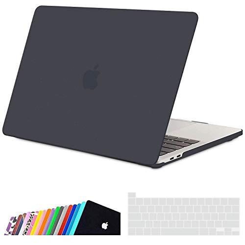 iNeseon Funda MacBook Pro 16 Pulgadas, Delgado Carcasa Dura Plástico Case para 2019 2020 MacBook Pro 16 con Touch Bar Model A2141, Gris Oscuro