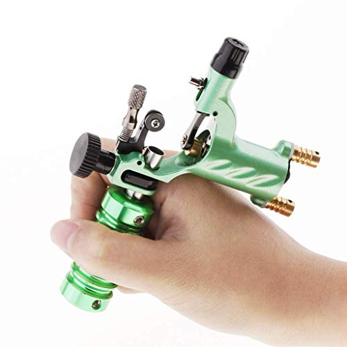 Tattoo Machine, Silent Alloy Dragonfly Rotary Motor For Liner Shader - Green