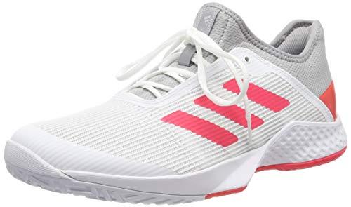 adidas Adizero Club, Zapatillas de Tenis Hombre, Gris (Light Granite/Shock Red/FTWR White Light Granite/Shock Red/FTWR White), 39 EU