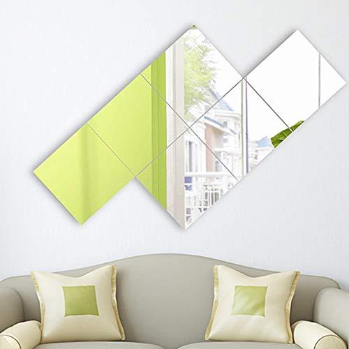 Mirrors Satz Selbstklebende Spiegelfliesen DIY 35cm Wand-Mosaik-Wandfliesen-Startseite