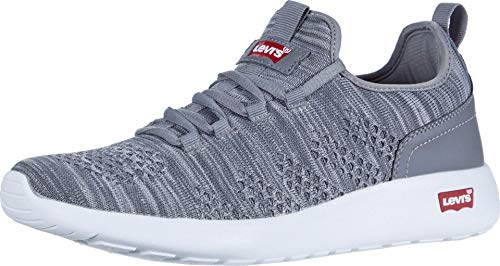 Levi's Mens Apex KT Athletic Inspired Knit Fashion Sneaker Shoe, Grey, 8.5 M