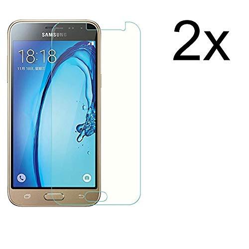 Cardana 2X Bruchsicheres Panzerglas für Samsung Galaxy J3 2016 Schutzfolie aus 9H Echt Glas Schutzglas Next Gen Transparent