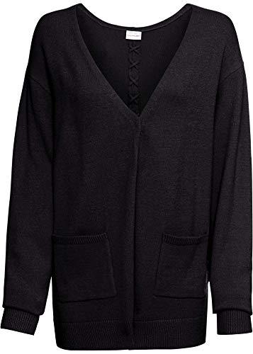 bonprix Oversize Strickjacke schwarz 40/42 für Damen