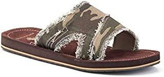Men's Stone Camo Frayed Flip-Flops