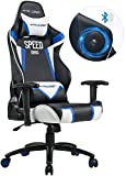 GTRACING Audio Gaming Chair with Bluetooth Speaker 【Patented】 Music Video Game Chair Racing Chair Heavy Duty Ergonomic Multi-Function E-Sports Chair for Pro Gamer GT991-M Blue