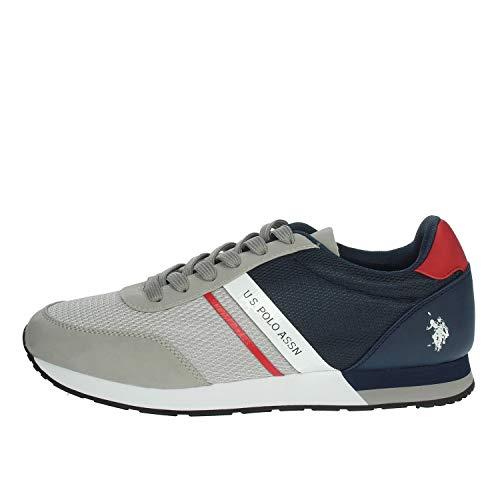 U.S. POLO ASSN. Brandon, Sneaker Uomo, Multicolore (Grey/Navy 027), 42 EU