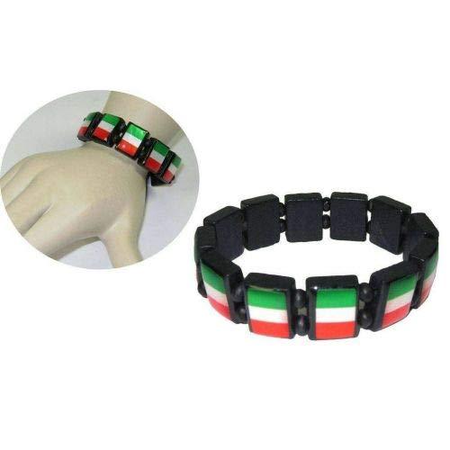 DUE ESSE Braccialetti Bracciale Italia Tricolore con Molla 1 Pz Gadgets Tifosi Italiani