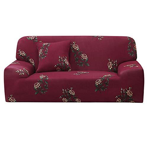 YeVhear - Funda de sofá extensible con estampado floral para sofá, sillón de causea, protector de muebles elástico universal con funda de almohada, tamaño grande