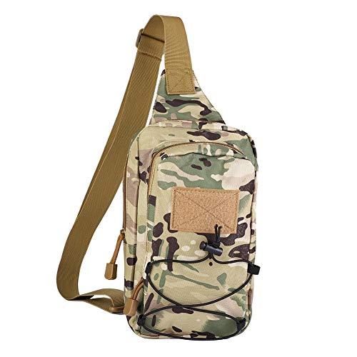 Fishlor Reiten Diagonale Paket, Unisex-Reiten Messenger Kampagne Brusttasche Schulter für Outdoor-Sportarten(Tarnen)