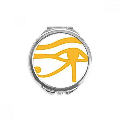 DIYthinker motif, antique, décoration yeux egypte miroir rond maquillage de poche à la main portable 2,6 pouces x 2,4 pouces x 0,3 pouce Multicolore