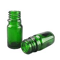 Tansoole 試薬瓶 5mL グリーン サンプル保存ボトル GL18ねじ口 内径11mm 高級ガラス製 実験用品 容器 ガラス瓶 ラボ液体サンプリング 40本入