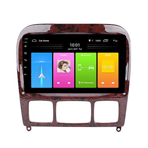 Navegación de coche, Reproductor multimedia Android 10 para coche, radio estéreo para coche para Mercedes Benz Clase S 1999-2007, con manos libres Bluetooth,Wifi 1g+16g