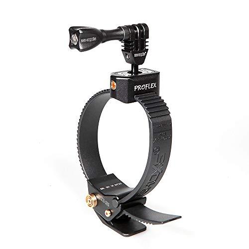 iSHOXS Proflex SE - schwarzer Gurt-Halter mit Schnellverschluss-Funktion - Sandblast-Edition - passend für GoPro, Rollei, Sony & kompatible ActionCams
