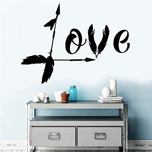 Pegatinas de pared de amor para niños en la habitación de los niños Diy decoración del hogar pegatinas de pared de PVC pegatinas decorativas A9 XL 58x78cm