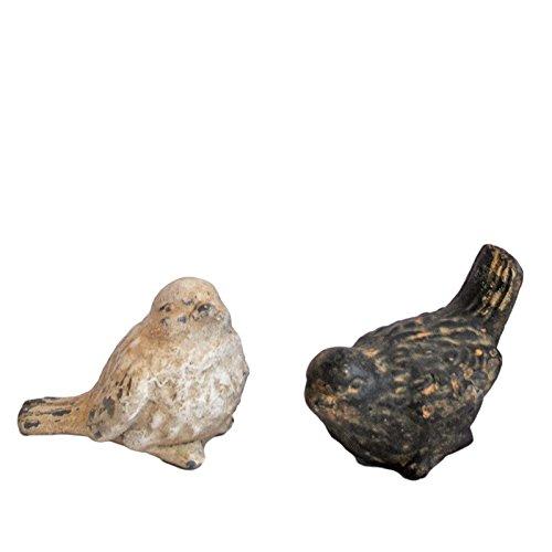 Set oiseaux patiné résine