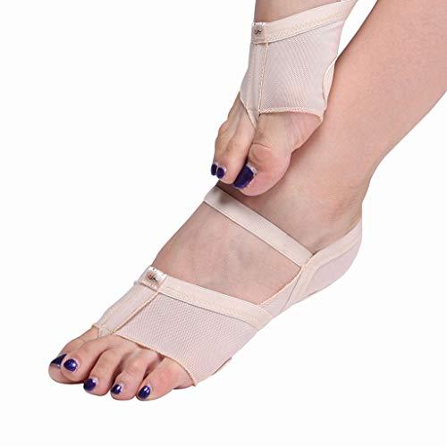 YCYEER Ballett Leinwand Tanzschuhe Gymnastic Yoga Schuhe Flat Split Sole Mädchen Damen (Farbe : Skin Tone, größe : M)