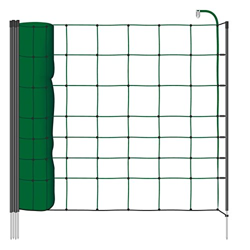 VOSS.farming Filet Mouton 50m H : 90cm Vert 20 piquets Simple Pointe clôture électrique