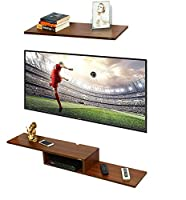 Anikaa Multipurpose Archie TV Entertainment Unit/Wall Set Top Box Stand Shelf can be used as Set top box or display bookshelf/display shelves in living/dining/offices etc . Made of premium high grade Prelam Particle Wood with Wood Grain Finish. 1 yea...