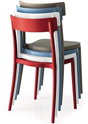 Connubia Set 4 sedie Argo Nero