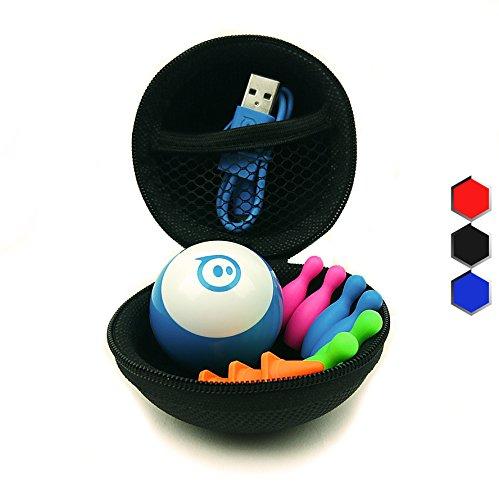 Preisvergleich Produktbild Hexnub Sphero Mini Zubehör Schutzhülle & Schutztasche Case Tasche & Reise-Etui für ferngesteuerten Spielzeug Roboter Ball ideal für Reisen und unterwegs Schwarz