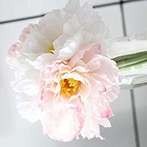 Artificial and Dried Flower 7pcs Silk Rosemary Artificial Flowers Real Touch Wreath Fake Flower for Wedding Home Decoration Accessories Valentines Day- ( Color: Pink )
