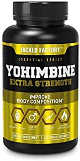 Yohimbine Extra Strength Supplement 2.5mg, 270 Capsules - Premium Yohimbe Bark Extract Supplement for Body Recomposition, ...