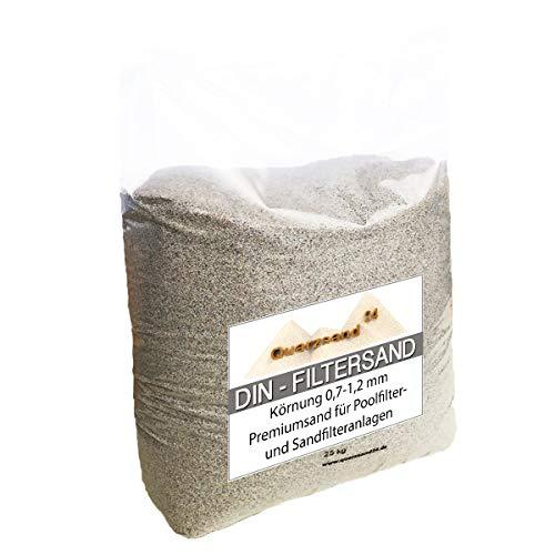 Samore 25 kg Filtersand für Sandfilteranlagen Quarzsand 0,7-1,2 mm H1 Marke Meinpool24.de