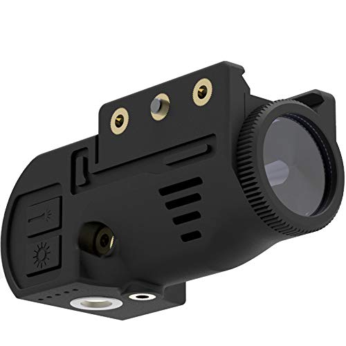 Laspur Tactical Sub Compact Picatinny Rail Mount Green Dot Laser Sight with Flashlight Light Integrated Combo, Built-in USB Magnetic Touch Rechargeable Battery Accessory