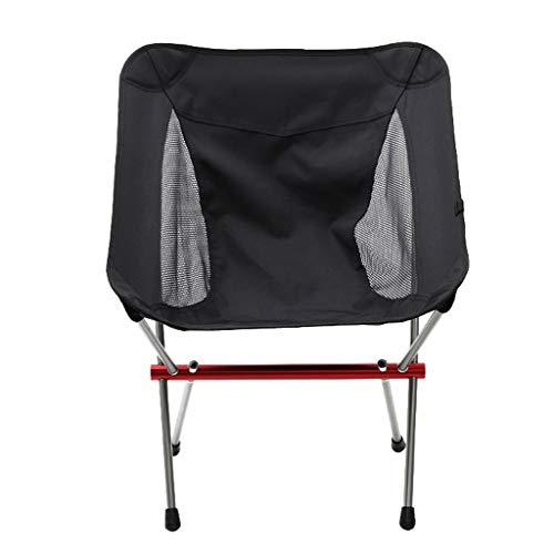 Silla plegable al aire libre Silla de camping portátil al aire libre, silla de playa plegable de aluminio ultraligero para barbacoa Silla de pesca de ocio de conducción automática Sillón de la silla q