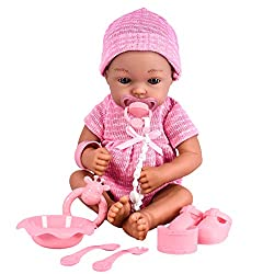 ADORABLE OUTFITS - Our real looking 10Inch baby doll feels incredibly lifelike in your child's arms.This amazing doll comes with a baby pink or blue soft knitted baby grow with a cute little bow, matching hat & accessories. REAL TOUCH FEELING - Gentl...