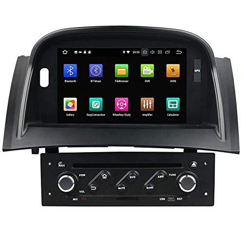 Lecteur DVD de Voiture ROADYAKO 7 Pouces pour Renault Megane II 2004 2005 2007 2007 2008 2009 Android 8.1 Autoradio Stéréo Navigation GPS 3G WiFi Lien de Miroir RDS FM AM Bluetooth Audio Vidéo