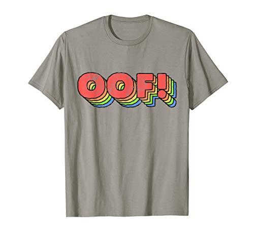 Big Oof Noob Videospiele Geschenk Regenbogen Dank Meme Zitat T-Shirt