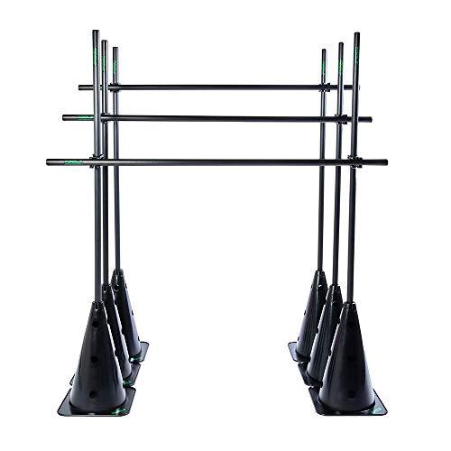 TOOLZ Multi Purpose Dribbling Post Set - Hürden Slalom Set mit Stangen, Kegel/Pylonen und Verbindungsclips mit Variabler Steckverbindung für Koordinationstraining und Agilität