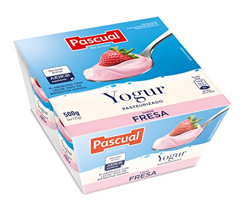 Pascual Yogur Original Sabor Fresa, Pack de 4 x 125g