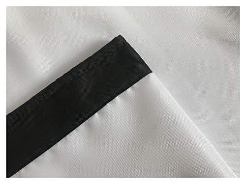 ANUO Proof Inklapbaar 100 Inch Projector Scherm Draagbaar Home Party Gordijn Met Grommets Regendoek Poncho 4:3 Kleur: wit