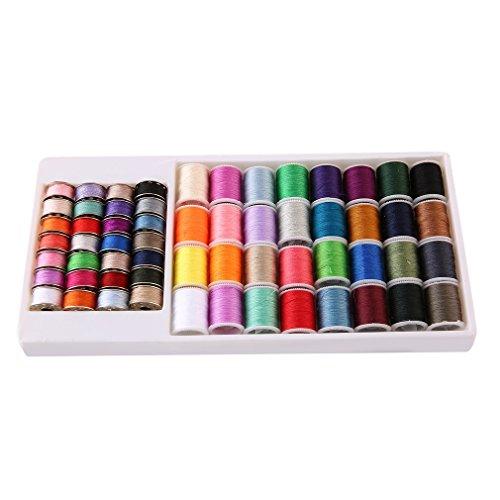 60pcs bobina de metal y carrete de hilo conjunto de colores mezclados para mini máquina de coser