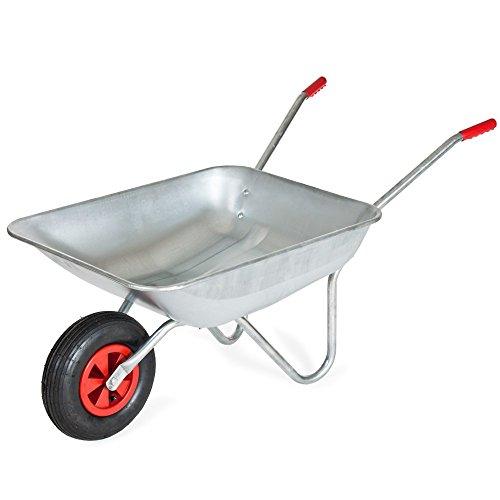 Dealtraders - Schubkarre - Transportwagen - Gerätewagen - Gartenkarre mit Luftrad