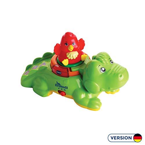 Vtech 80-510704 ZoomiZooz - Huckepack-Krokodil, Babytiere, Mehrfarbig