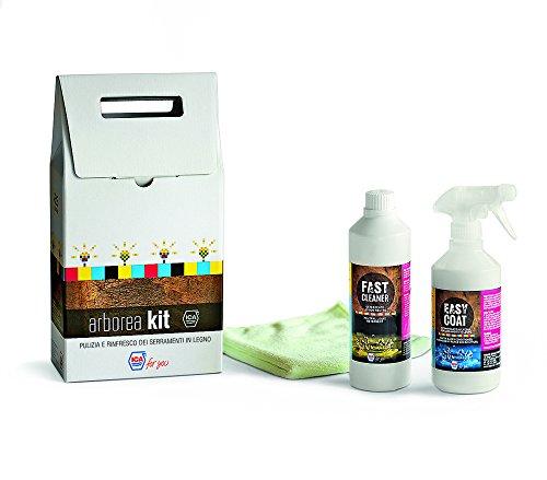 Ica for you kith2op Arborea Kit Productos para la limpieza y el rinfresco dei serramenti (madera, transparente