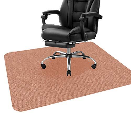 ping bu Alfombrilla para silla de oficina, escritorio para suelos de madera dura, alfombrilla protectora para piso para silla de oficina, alfombra multiusos para el hogar (90 x 120 cm, naranja claro)